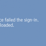 user profile service failed the sign in
