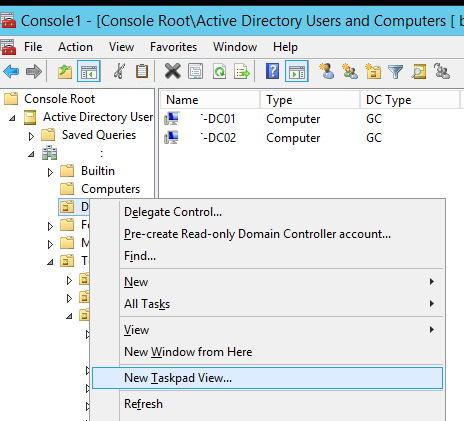 Active Directory Users and Computers MMC Snap-in