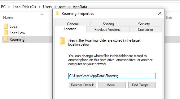 AppData Folder in Windows 10
