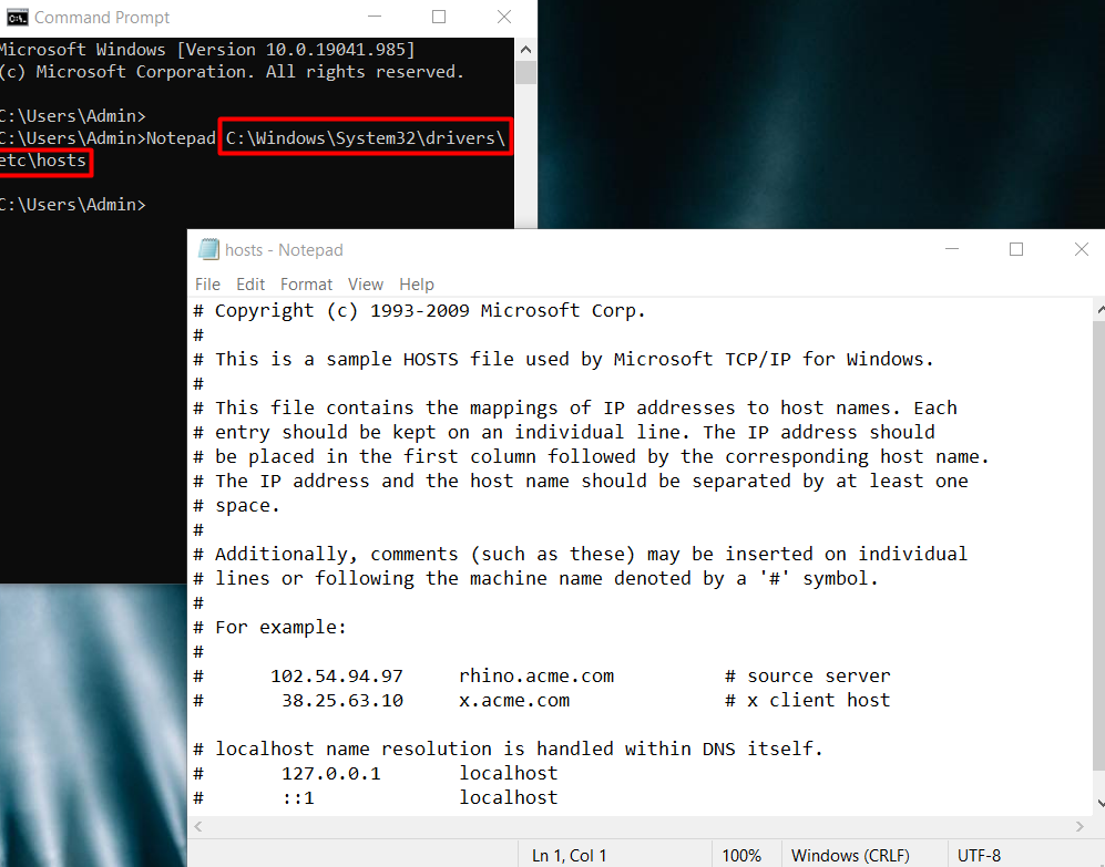 Some websites won't load Windows 10