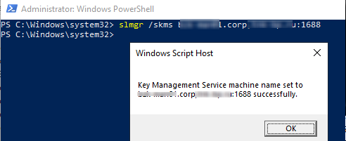 how to activate Windows with KMS server