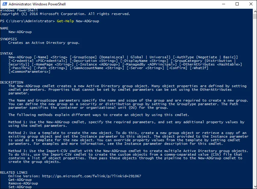 Active Directory Group types