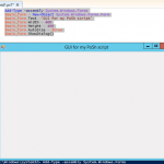 GUI for Powershell Scripts